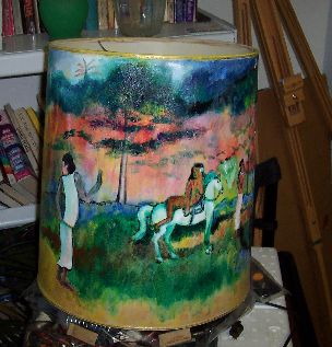 Gauguin Lamp Shade by Tom Lacey