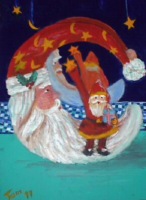 Santa Moon by Tom Lacey